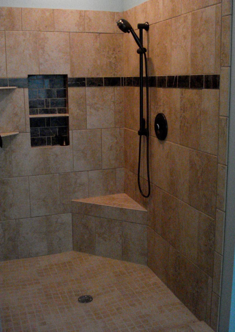 Shower tile ideas quiet corner Bathroom tile decorating ideas
