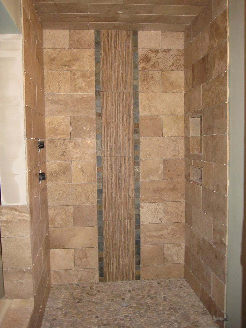 Shower tile ideas quiet corner for Tile shower floor ideas