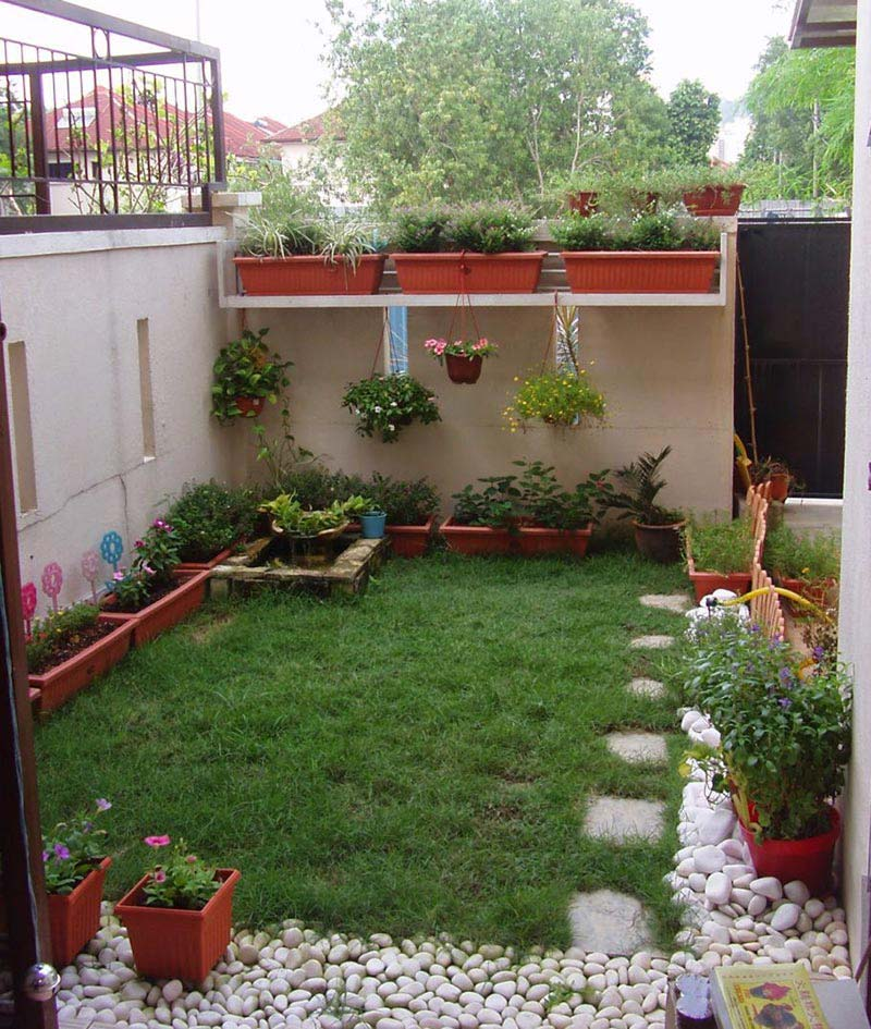 Quiet Corner Container Gardening Ideas: Quiet Corner:Small Backyard Ideas Enlarging Your Limited