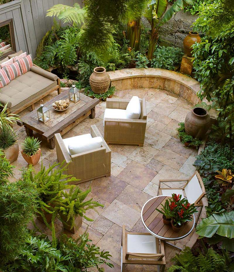Small backyard relaxing design quiet corner for Backyard garden designs and ideas