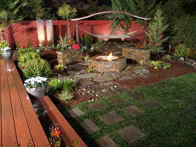 Quiet Corner Small Backyard Relaxing Design Quiet Corner