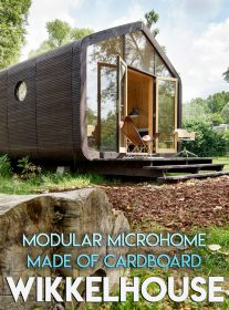 Wikkelhouse – Modular Microhome Made of Cardboard