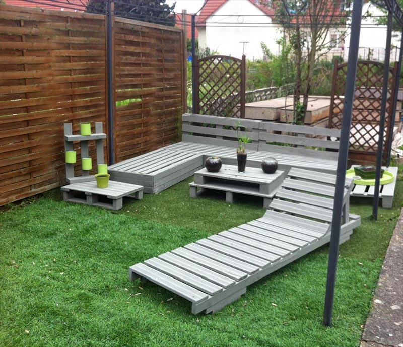 Wonderful Wood Pallet Outdoor Furniture Ideas