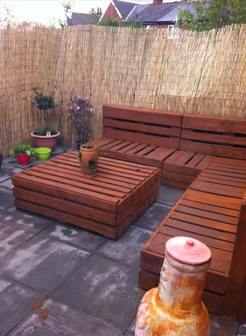 Wood Backyard Furniture ~ Wonderful wood pallet outdoor furniture ideas quiet corner