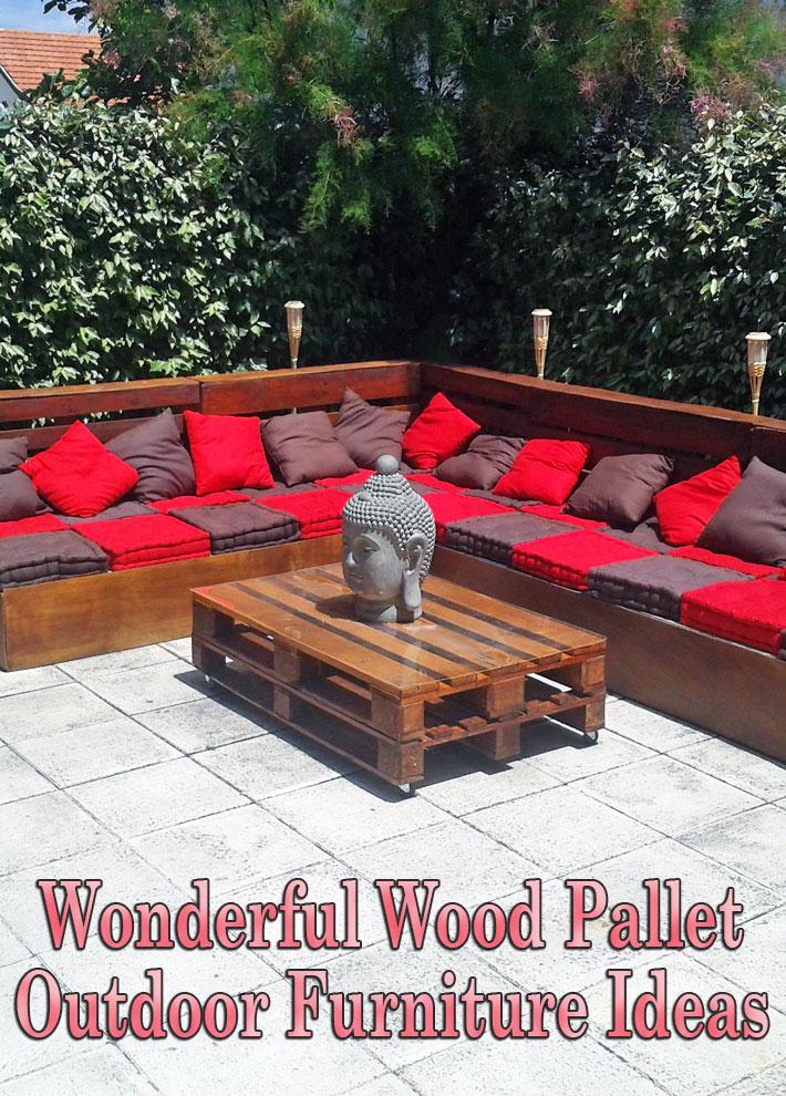 Quiet Corner Wonderful Wood Pallet Outdoor Furniture Ideas Quiet