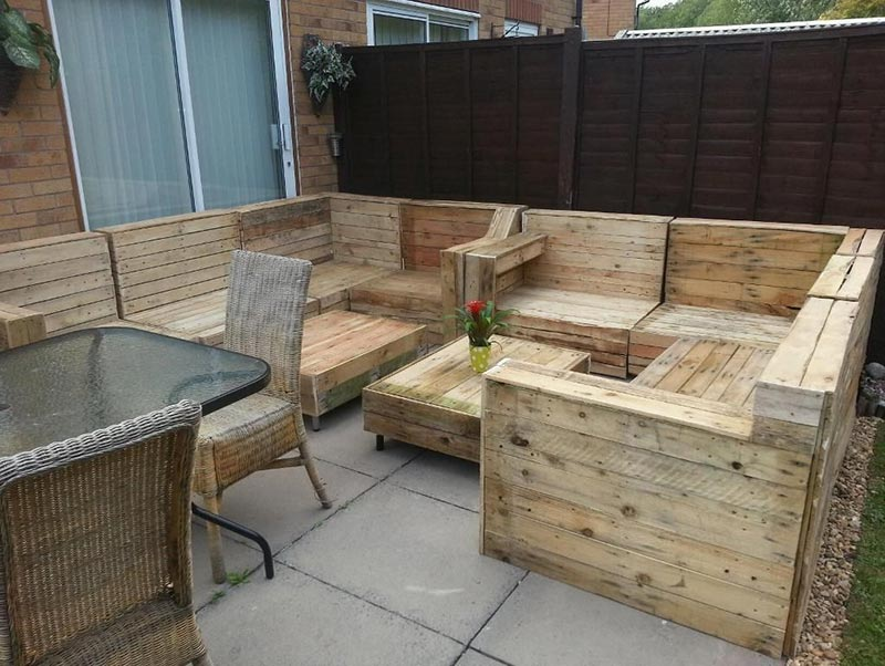 Garden Furniture From Wooden Pallets wonderful wood pallet outdoor furniture ideas - quiet corner