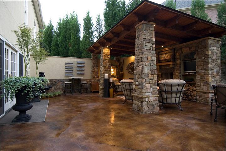 DIY- Staining Concrete Slabs - Quiet Corner