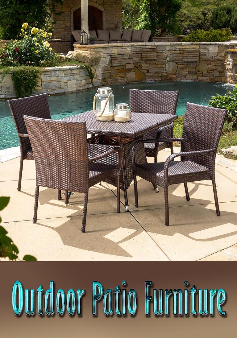 Outdoor patio furniture types and materials quiet corner for Patio materials