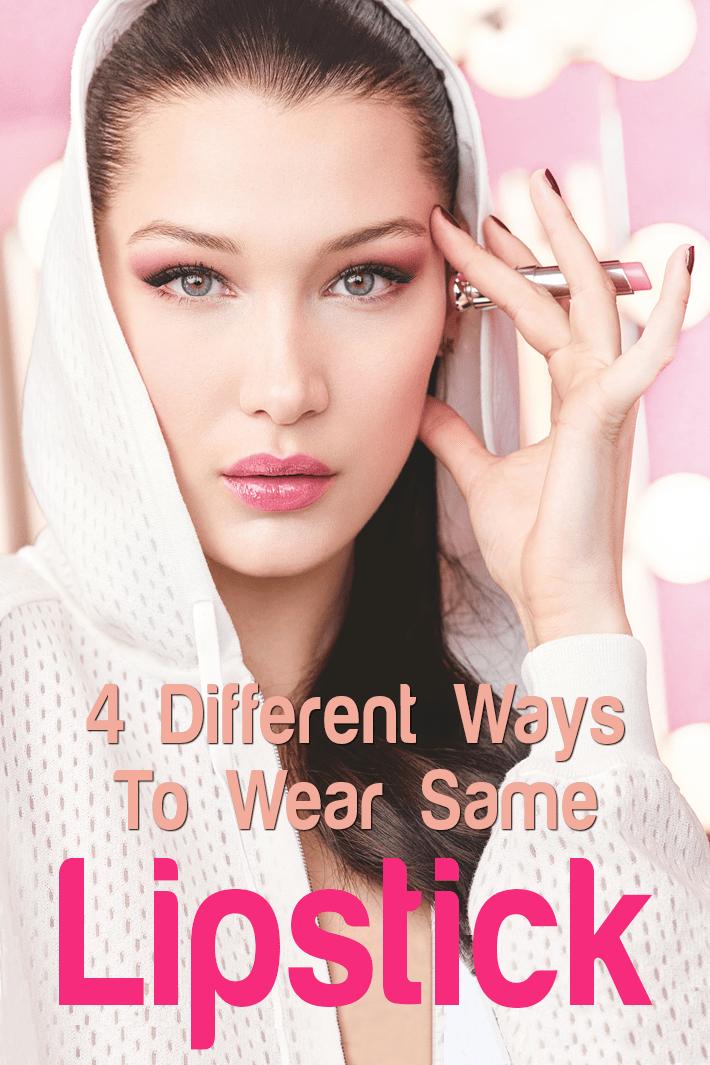 4 Different Ways To Wear Same Lipstick - Quiet Corner