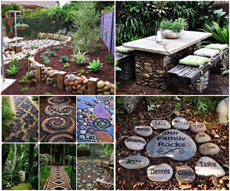 easy diy garden projects with stones quiet corner