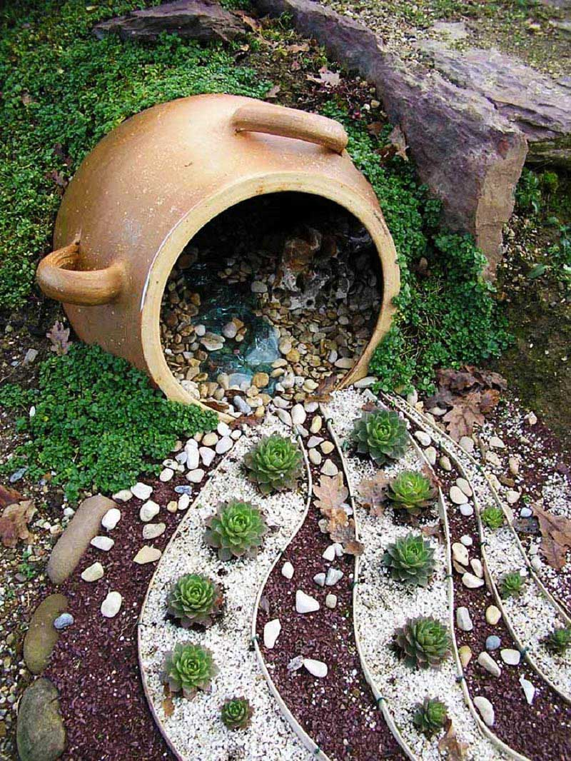 Easy diy garden projects with stones quiet corner for Homemade garden decorations