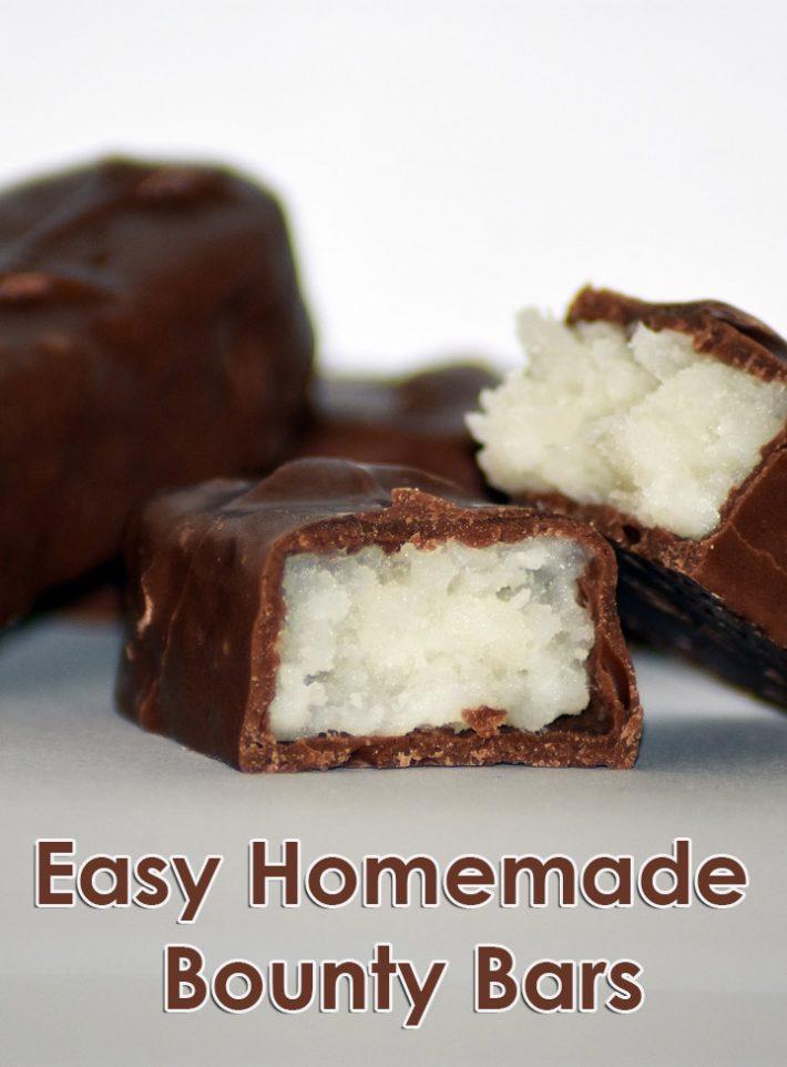 Easy Homemade Bounty Bars Recipe