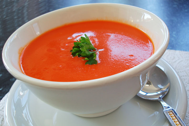 Roasted Red Pepper and Tomato Soup Recipe