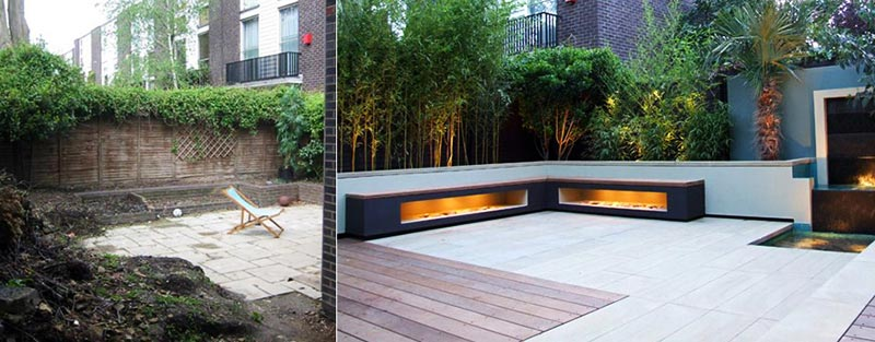 Sloping garden design ideas quiet corner for Modern back garden designs