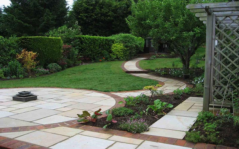 Quiet corner sloping garden design ideas quiet corner - Small backyard landscaping ideas ...