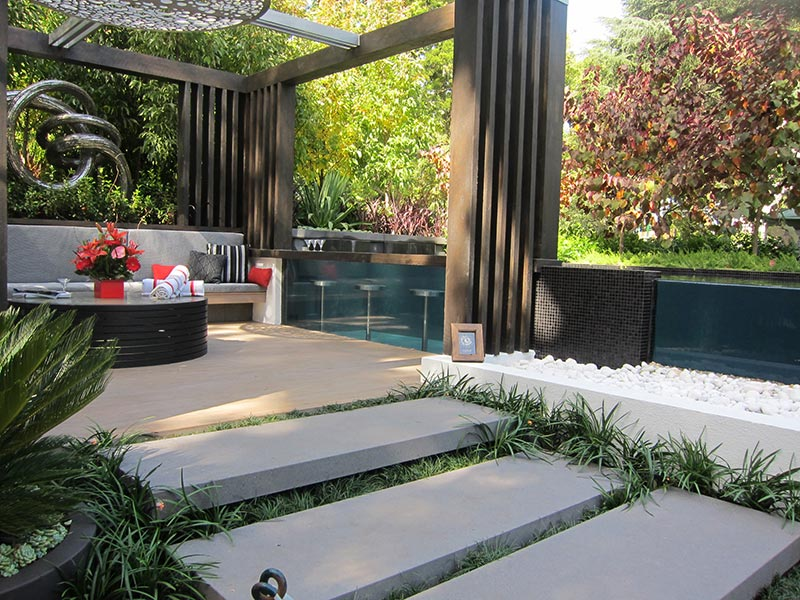 Sloping Garden Design Ideas - Quiet Corner on Sloping Gardens Design Ideas id=59564