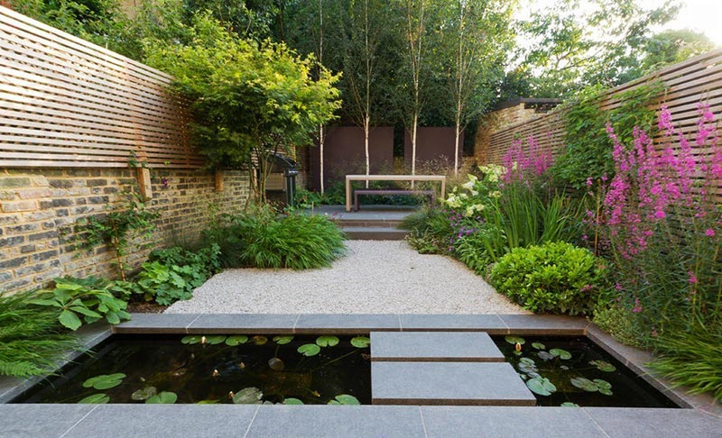 Sloping Garden Design Ideas - Quiet Corner on Sloping Gardens Design Ideas id=95945