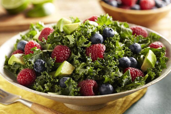 Triple Berry Kale Salad Recipe