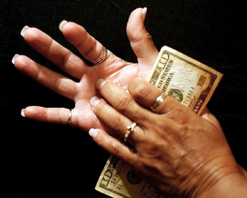 Itchy hand money