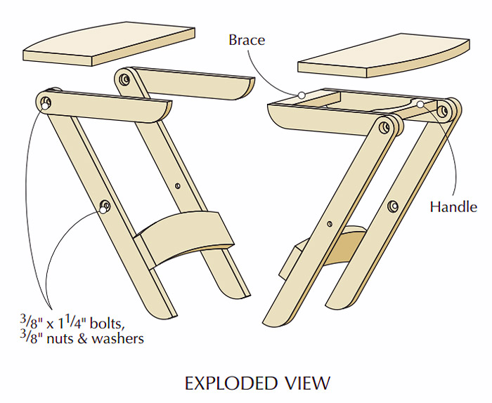 DIY - How to Make Perfect Picnic Folding Stool