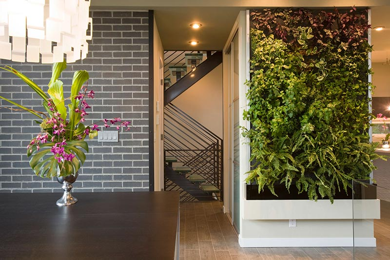 Brick Wall Design Under Vertical Loads : Living wall vertical garden benefits quiet corner