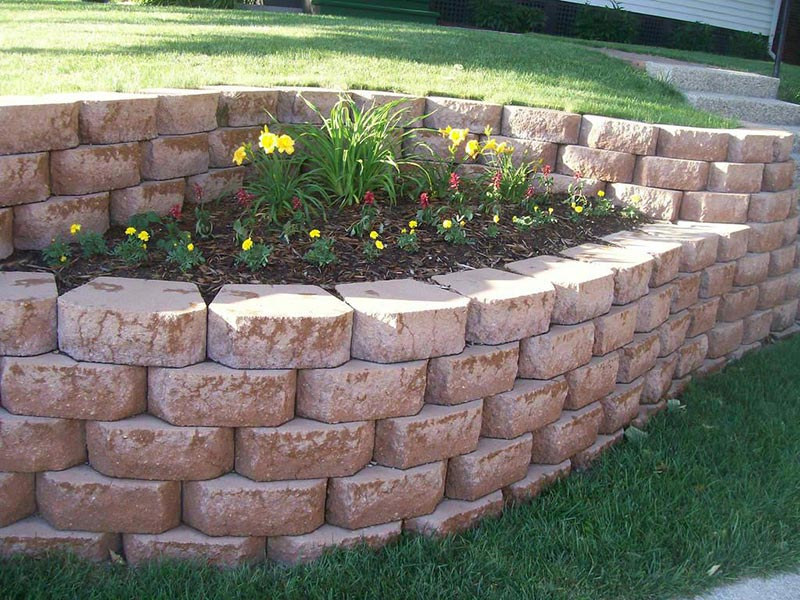 Retaining Wall Design Ideas - Quiet Corner on Backyard Wall Design id=21525