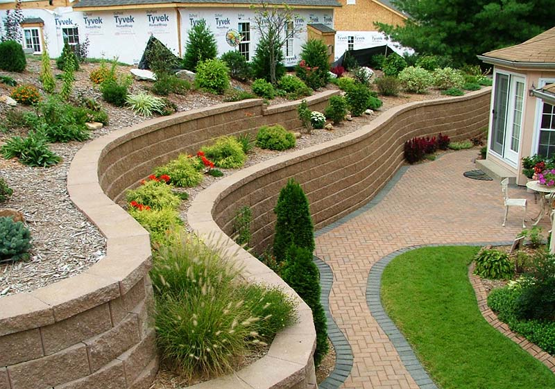 Landscape Design Retaining Wall Ideas contemporary landscape garden wall design pictures remodel decor and ideas page 5 Retaining Wall Design Ideas