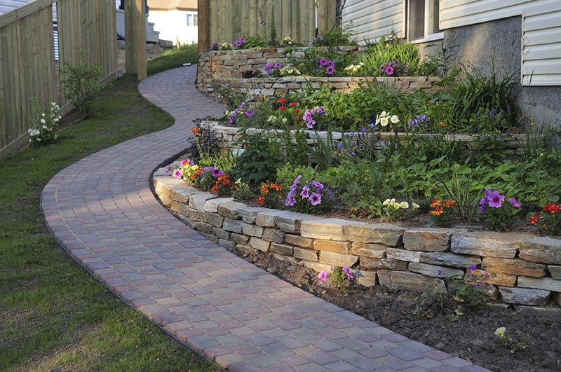 Retaining Wall Design Ideas dry rock retaining walls and steps Retaining Wall Ideas