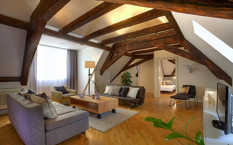 Attic space interior design ideas quiet corner for Designer apartment prague