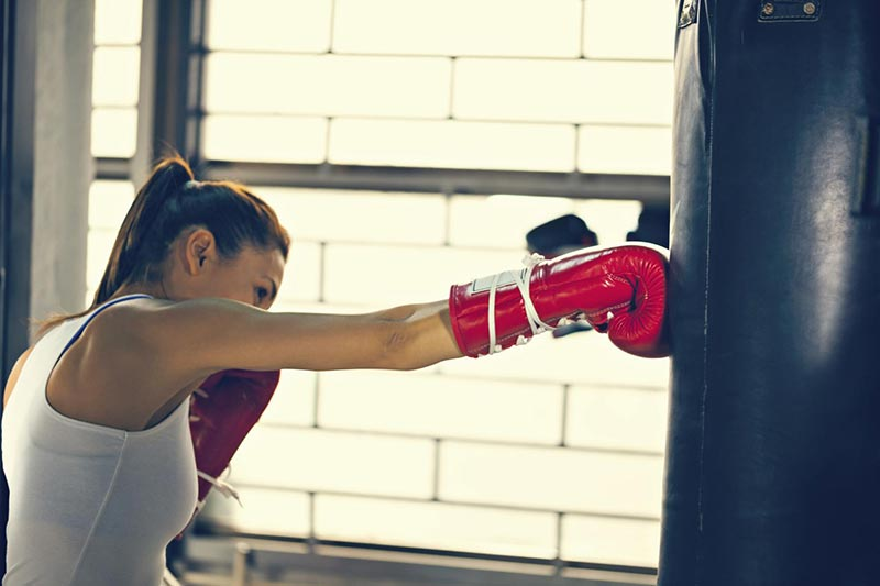Can a Punching Bag Workout Help Tone Your Abs