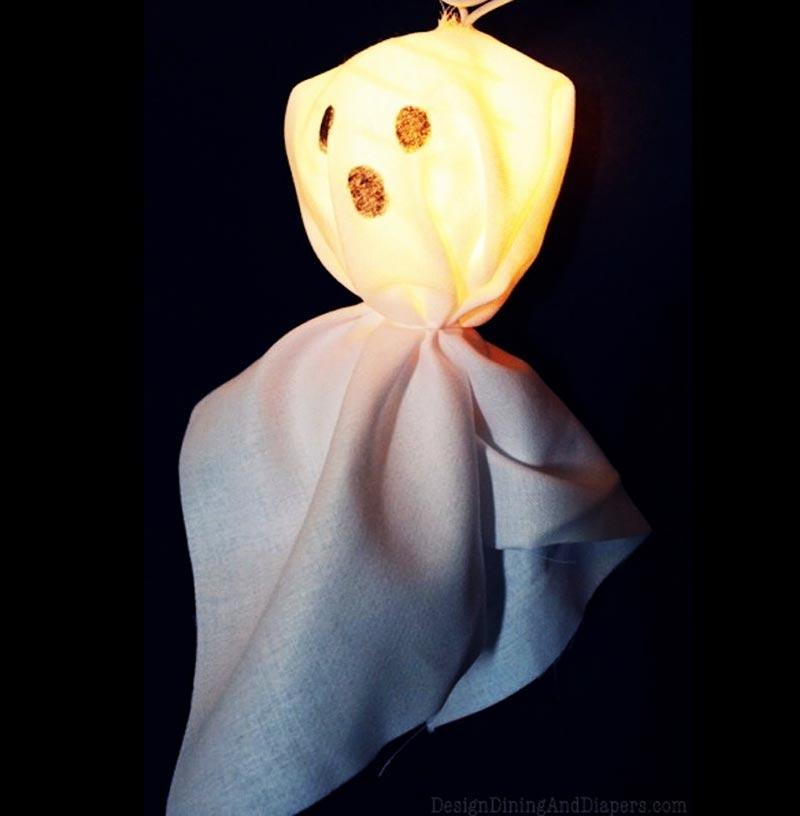 DIY Illuminated Ghost Garland