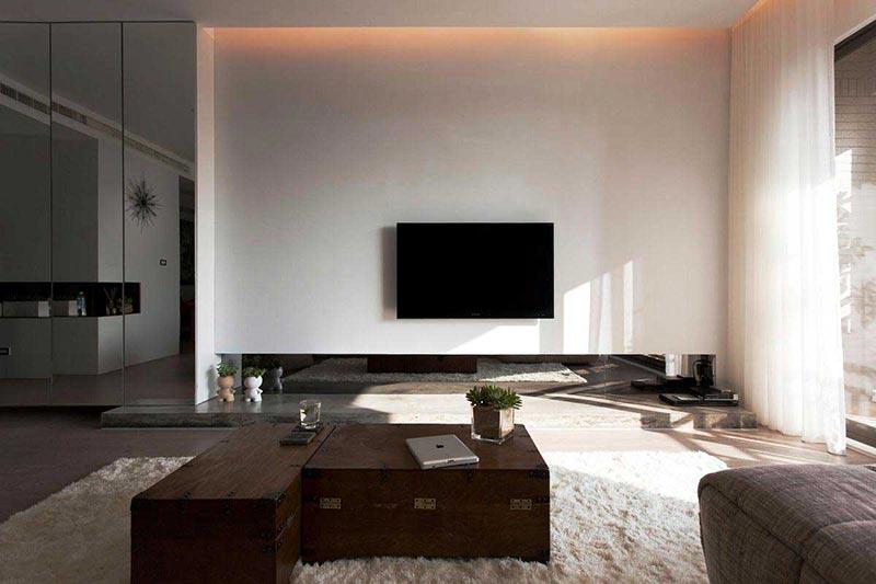 Minimalist living room design quiet corner for Minimalist style living room