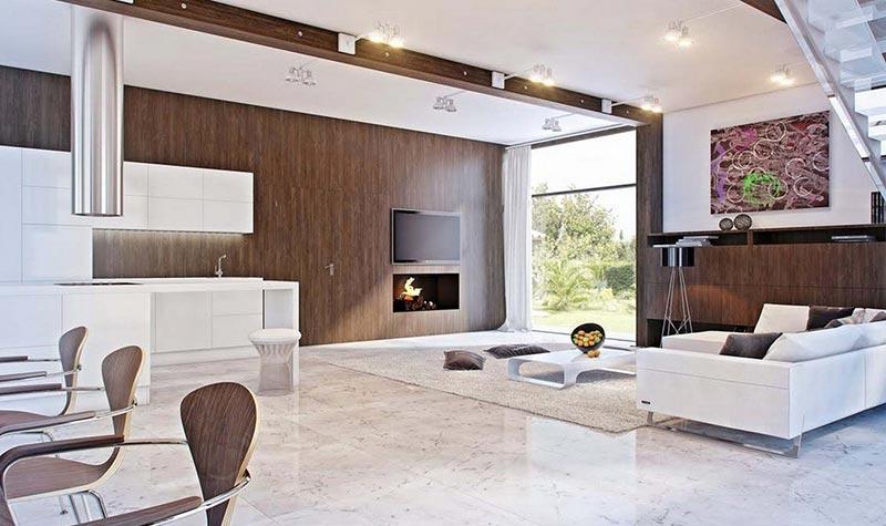Minimalist Living Room Design Quiet Corner