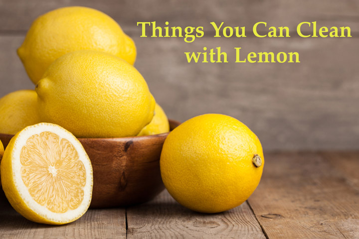 how to clean your fridge with lemon