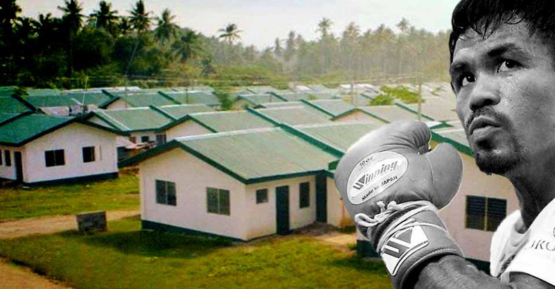 Manny Pacquiao Builds 1,000 Homes For Poor Filipinos