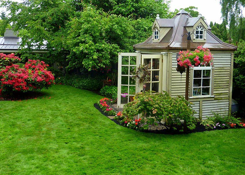Amazing backyard landscaping ideas quiet corner for How to landscape backyard