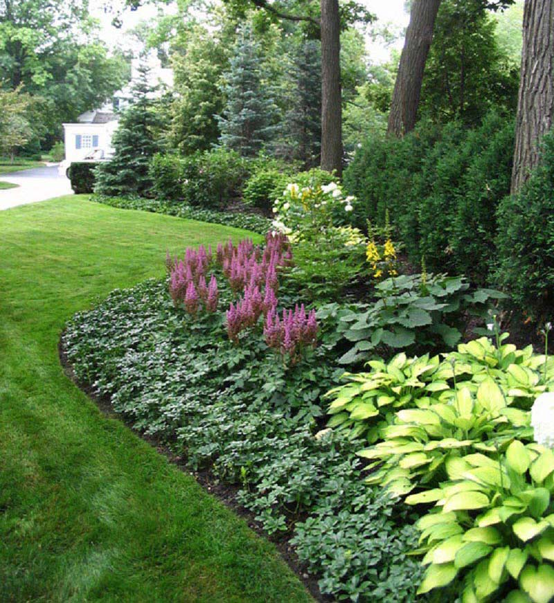 12 Amazing Ideas For Flower Beds Around Trees: Amazing Backyard Landscaping Ideas