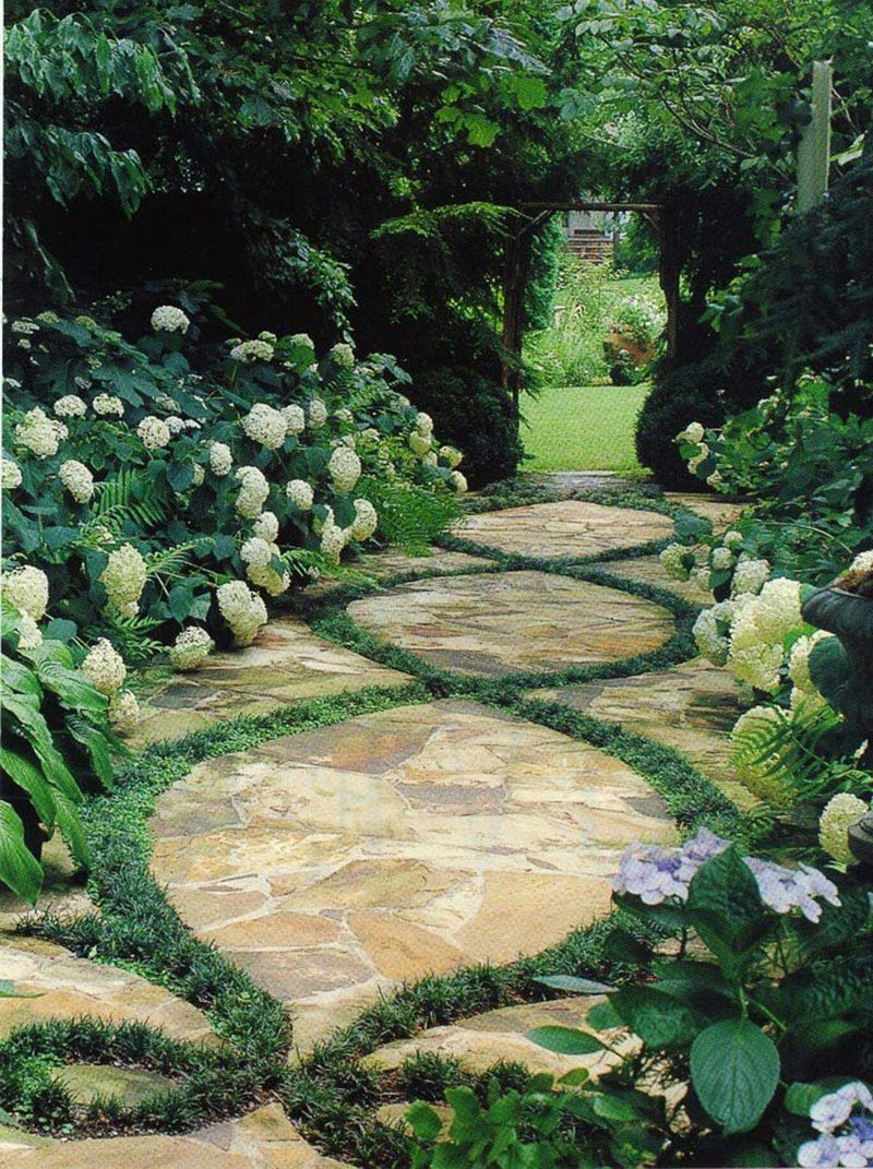 Beautiful garden paths made of natural stone quiet corner for Beautiful garden plans