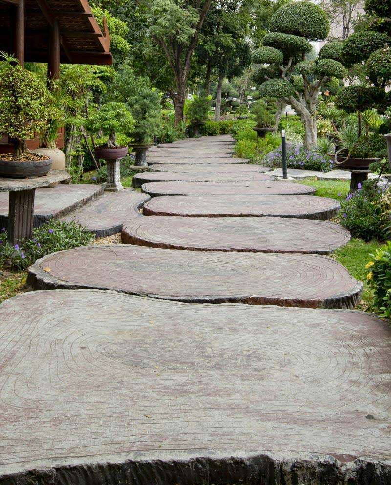 Beautiful Garden Paths Made Of Natural Stone Quiet Corner