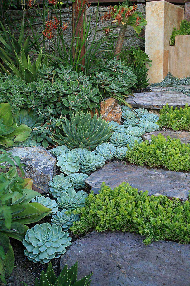 Beautiful garden paths made of natural stone quiet corner - Garden pathway design ideas with some natural stones trails ...