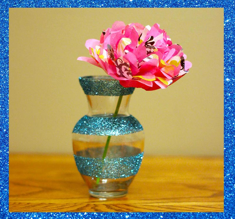 Glitter Vases DIY Tutorials