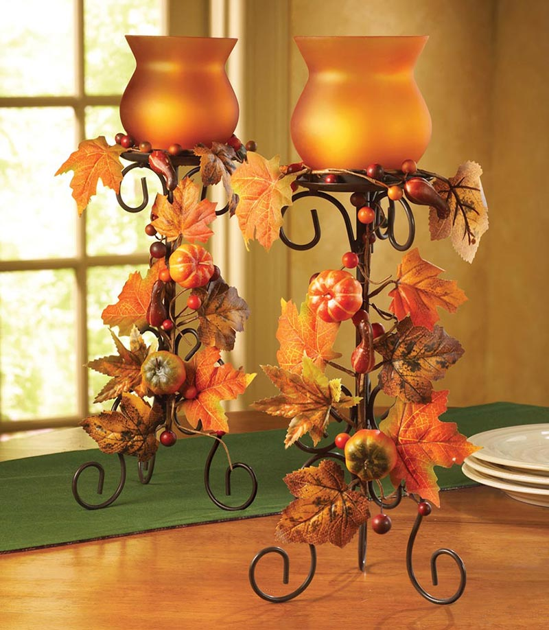 Thanksgiving decorating ideas quiet corner for Thanksgiving centerpieces with candles