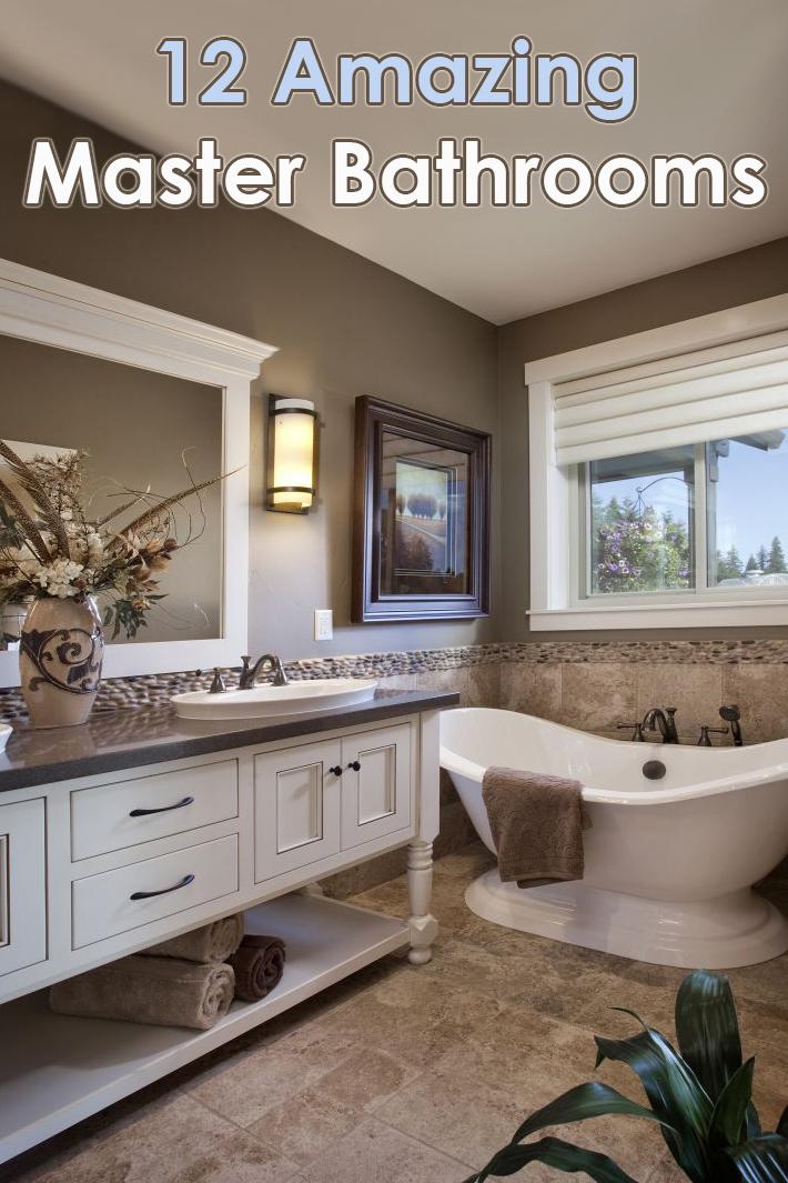 12 Amazing Master Bathrooms Designs - Quiet Corner