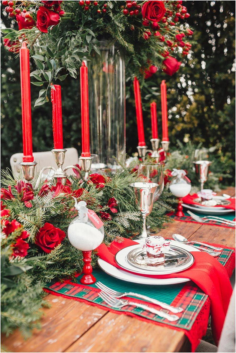 Ideas for christmas table decorations quiet corner for Christmas holiday ideas