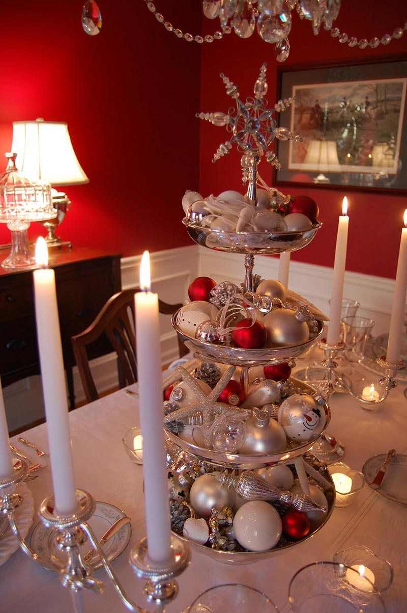 Ideas for christmas table decorations quiet corner for Christmas decorations