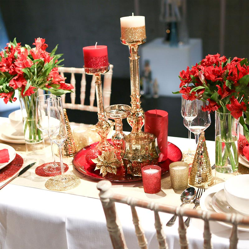 Ideas for christmas table decorations quiet corner for House table decorations