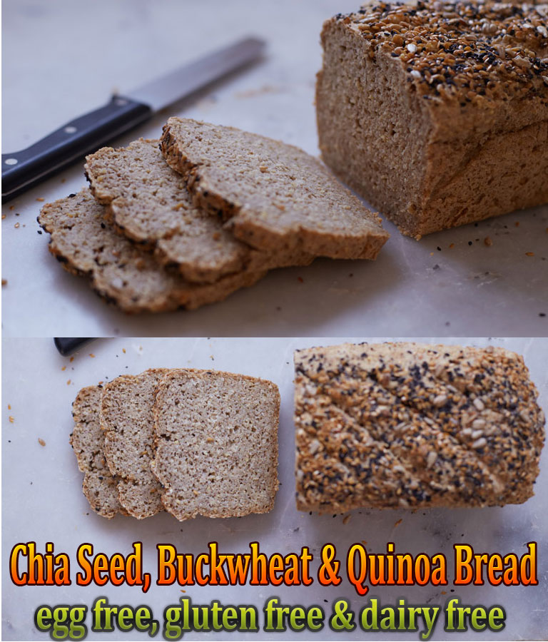 Chia Seed, Buckwheat & Quinoa Bread