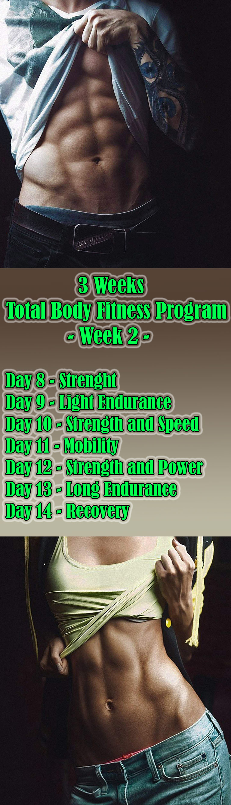 3 Weeks Total Body Fitness Program- Week 2