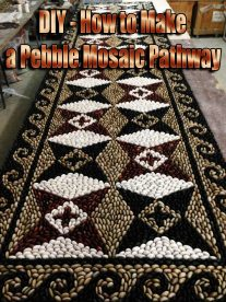 DIY - How to Make a Pebble Mosaic Pathway
