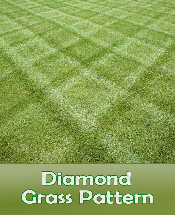 Lawn Mowing Tips - How To Mow a Diamond Grass Pattern - Quiet Corner